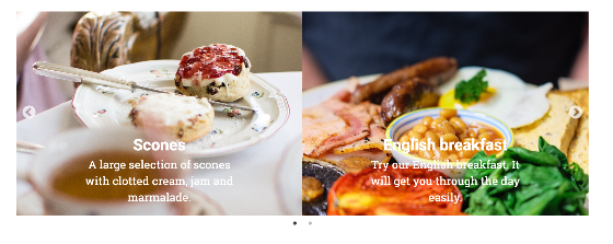 Screenshot of slides widget